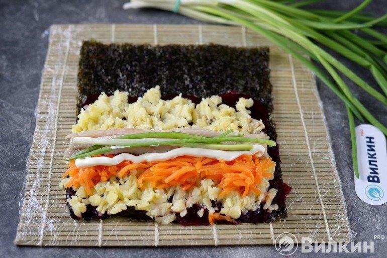 Рыба и зеленый лук