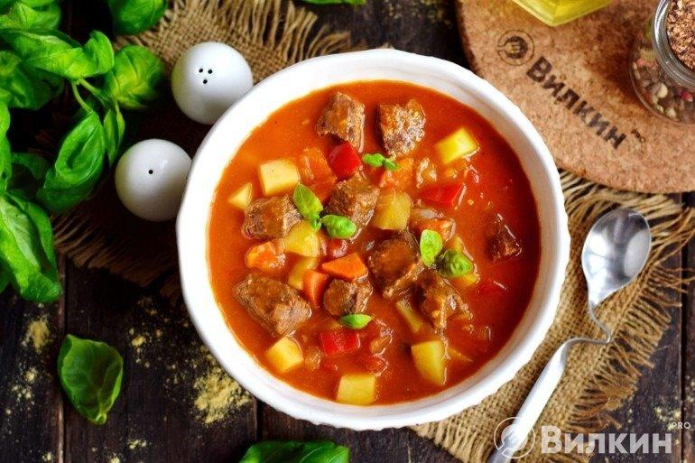 Говяжий суп-гуляш на обед
