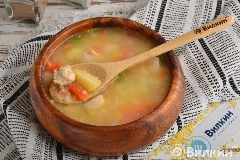 Куриный суп с кускусом