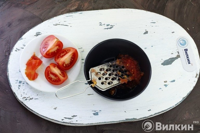 Натирание томатов
