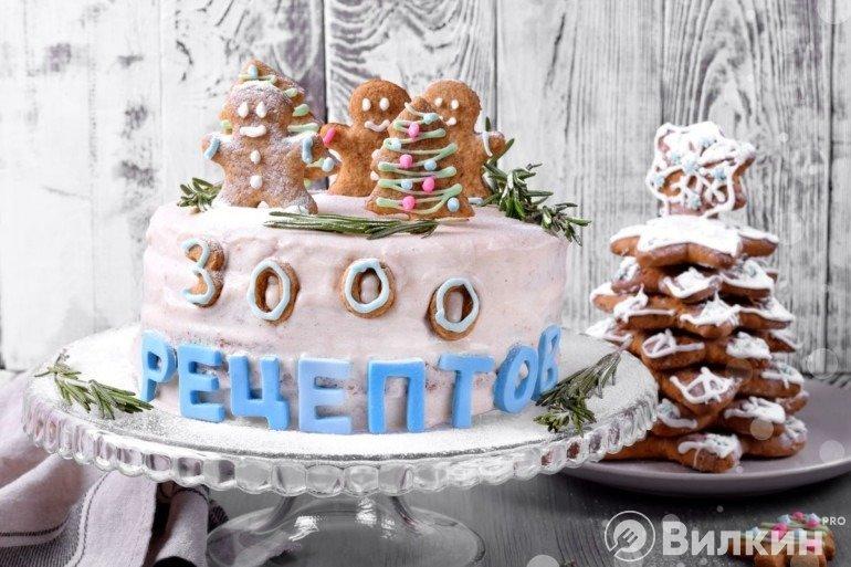 Юбилейный торт «3000 рецептов»