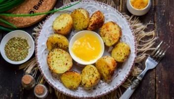 Жареный картофель с мёдом