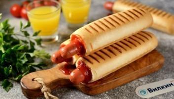 Французский хот-дог с венской сосиской