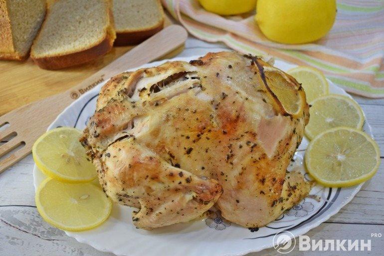 Курица с лимоном в духовке