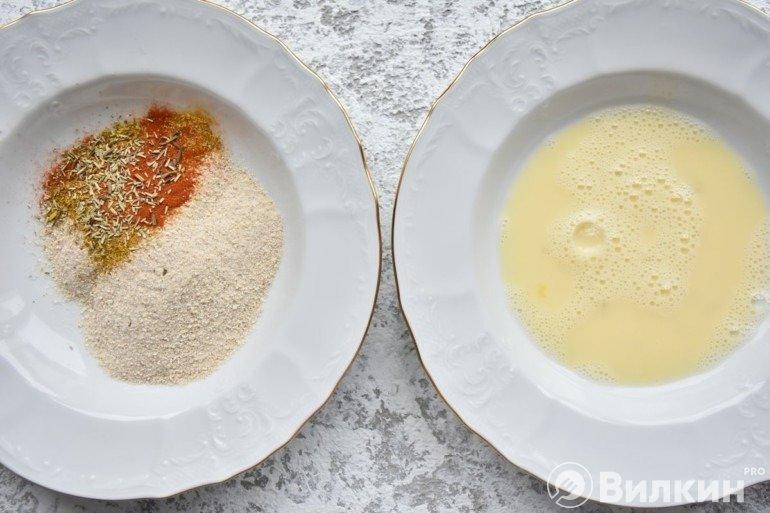 Сухари и яйца