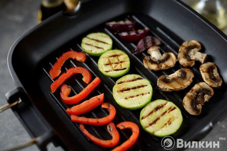 Жарка овощей на гриле