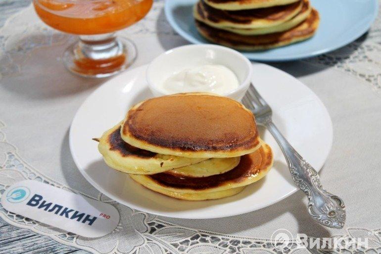 Панкейки на сметане на завтрак