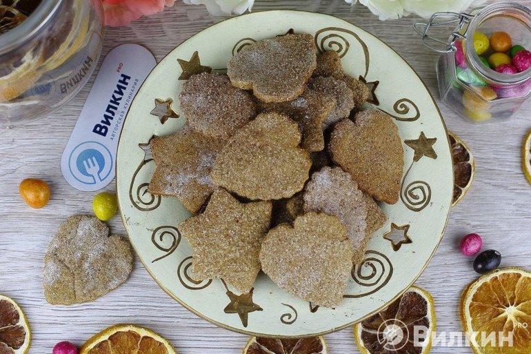 Печенье из ржаной муки на десерт