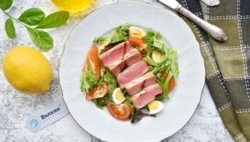 Салат с тунцом и руколой