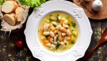 Суп с консервированной белой фасолью