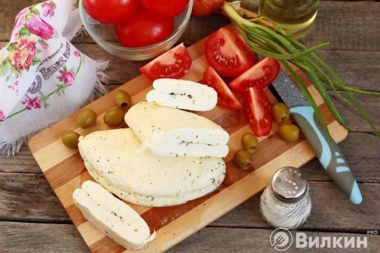 Готовый сыр Халуми
