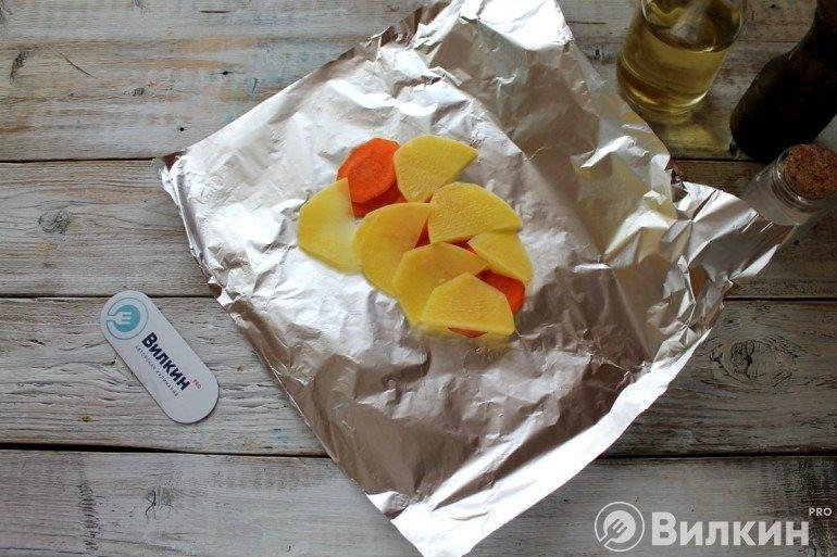 Овощи на фольге