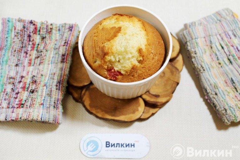 Горячий кекс из духовки