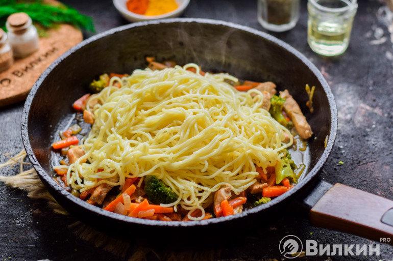 Добавление спагетти