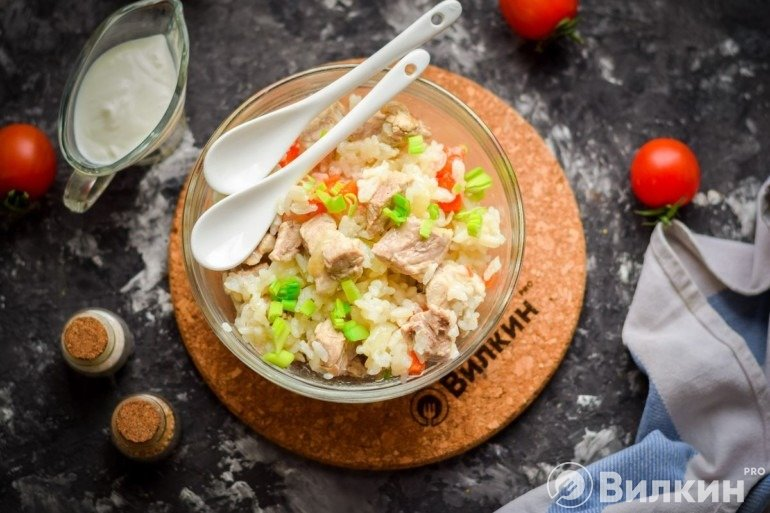 Рис со свининой на ужин