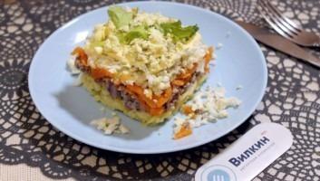 Салат «Мимоза» с картошкой