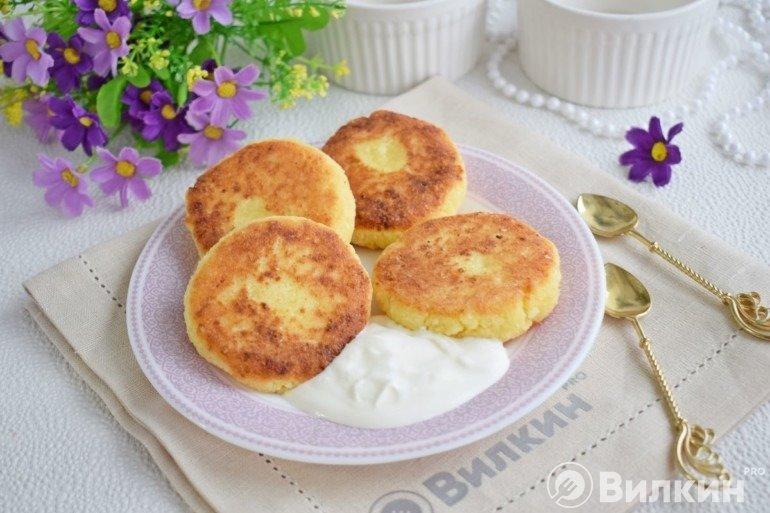 Сырники без яиц с манкой