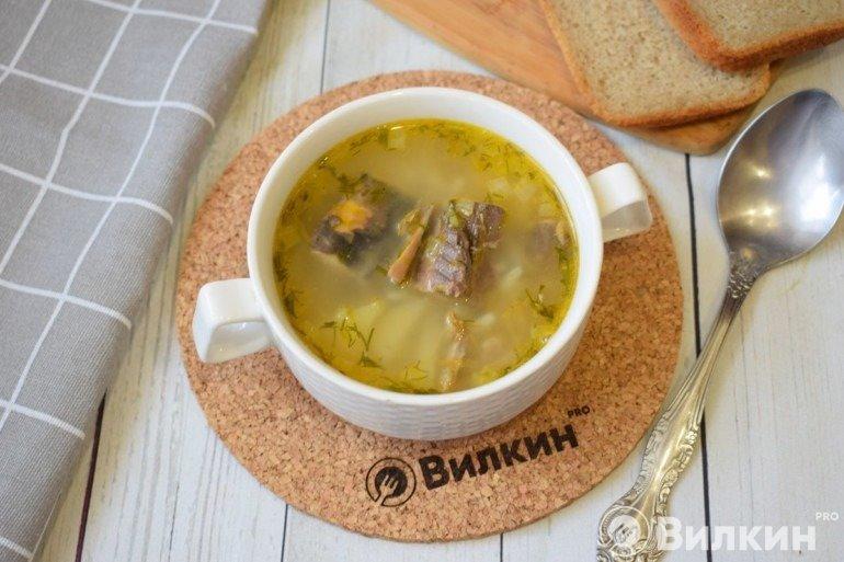 Суп из тунца с картошкой и рисом