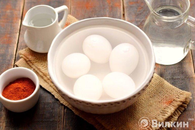 Мытье яиц