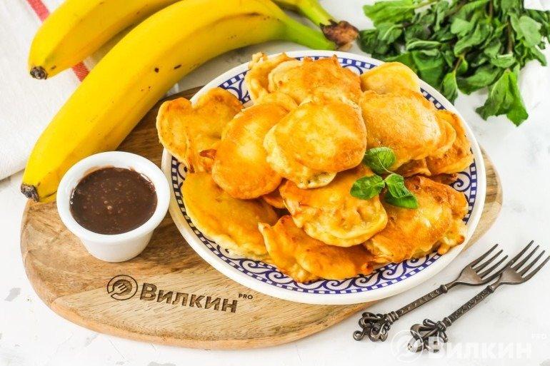 Бананы в тесте на сковороде