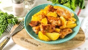 Бараньи ребрышки с картошкой в духовке