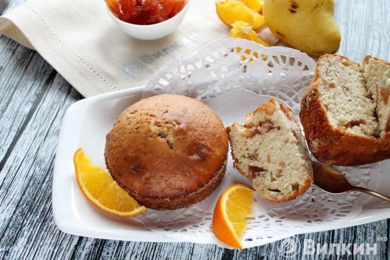 Бисквитные кексы с вареньем к чаю