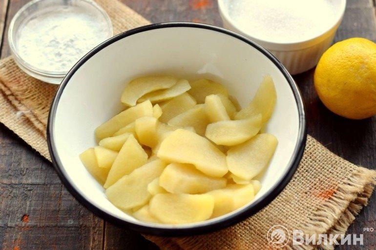 Вареные яблоки