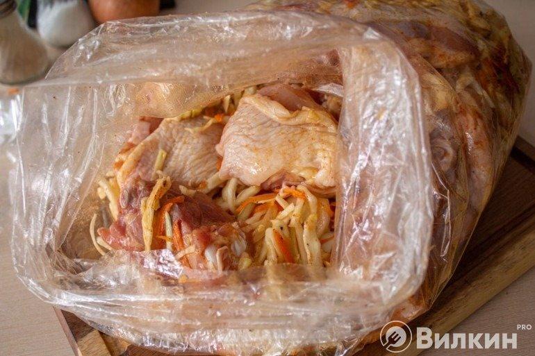 Закладка курицы