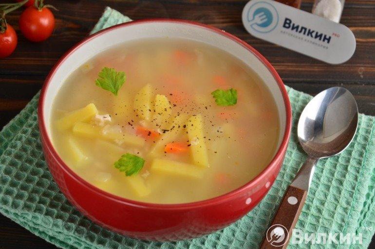 Порция супа на обед
