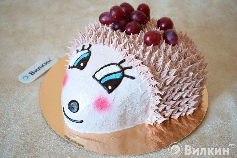Торт «Ёжик» из бисквита