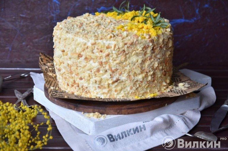 Торт «Наполеон» из творога