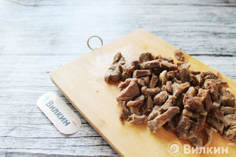 Нарезка вареного мяса