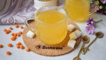 Чай с облепихой и имбирем