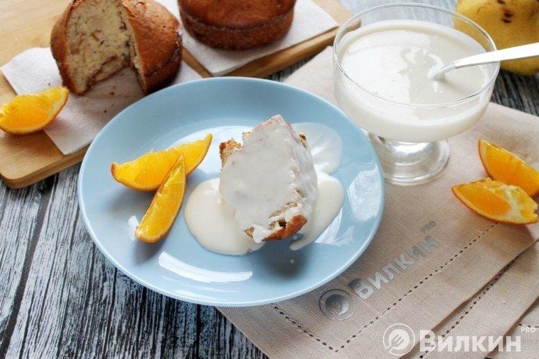 Крем из сметаны с сахаром для торта, бисквита и на десерт