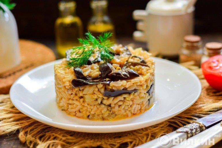 Рис с баклажанами на ужин