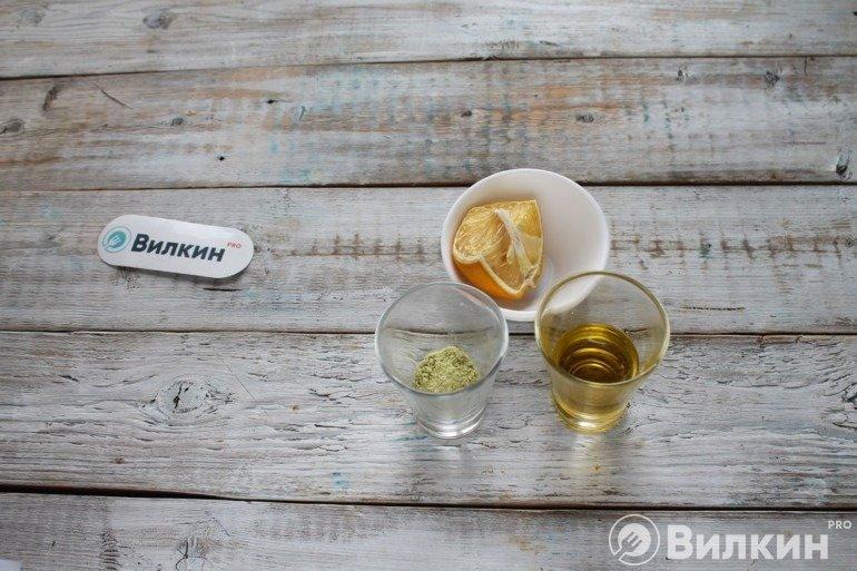 Сок лимона и масло