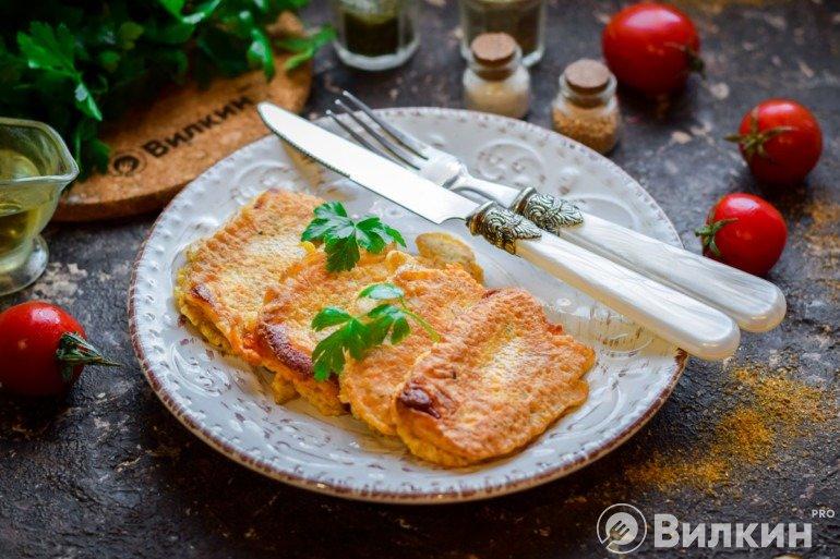 Жареный сыр в кляре со специями