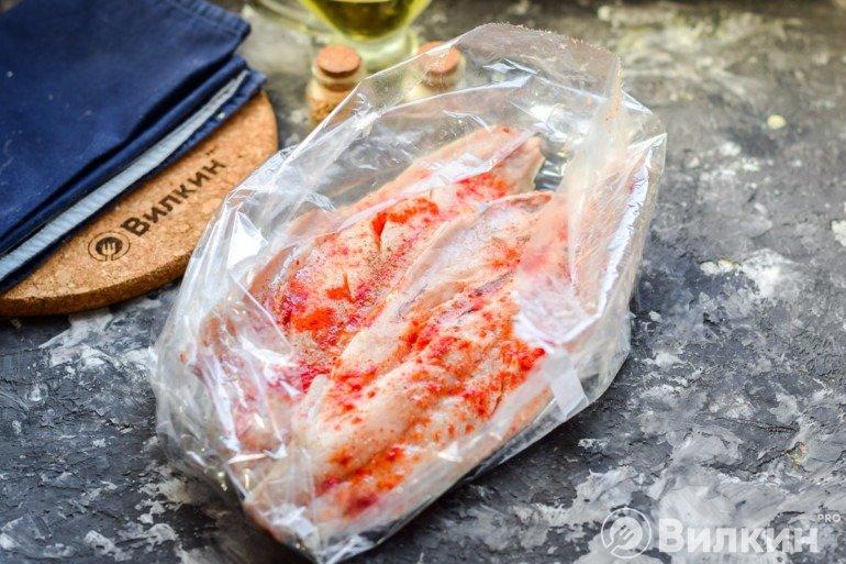 Закладка рыбы в рукав