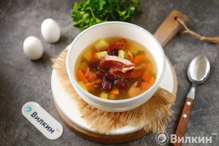 Суп с консервированной красной фасолью