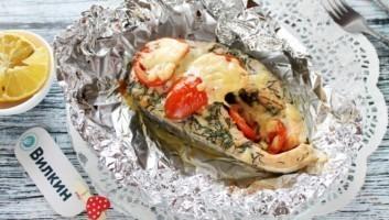 Красная рыба в фольге в духовке
