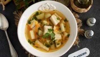 Рыбный суп из минтая