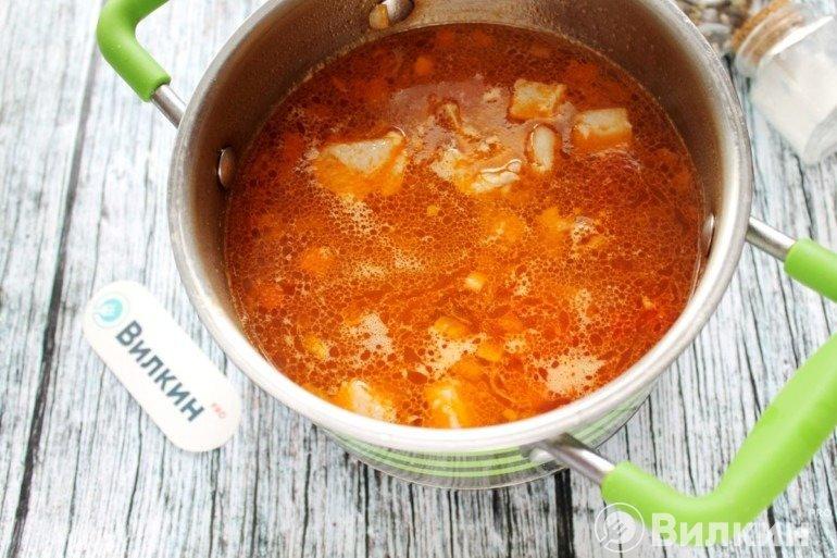 Закладка в суп мяса