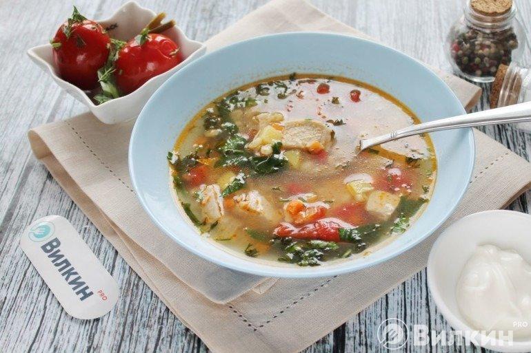 Порция сытного супа