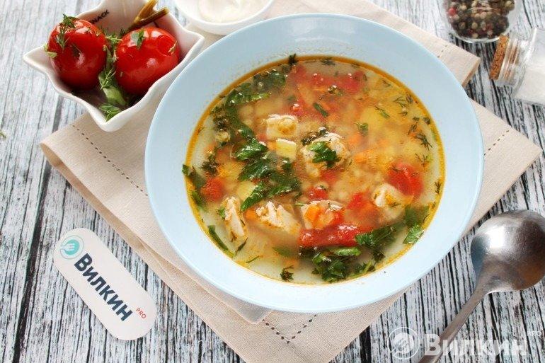 Суп с перловкой и мясом