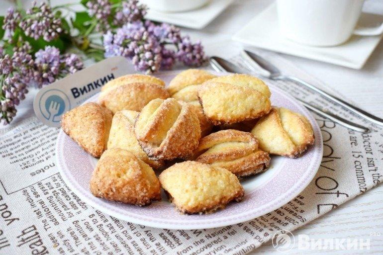 Домашнее печенье из творожного теста