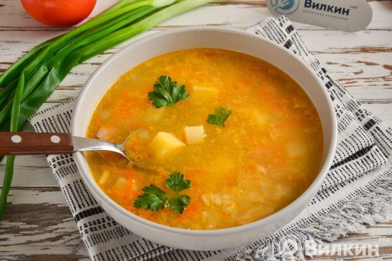 Порция французского супа