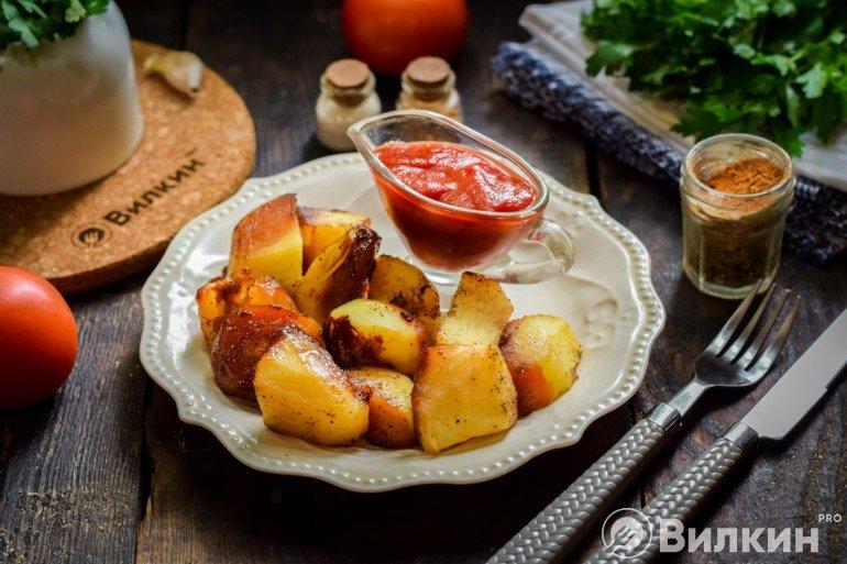 Готовый картофель в соевом соусе