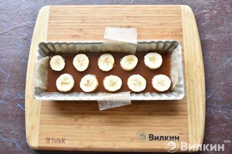 Выкладка кружков банана