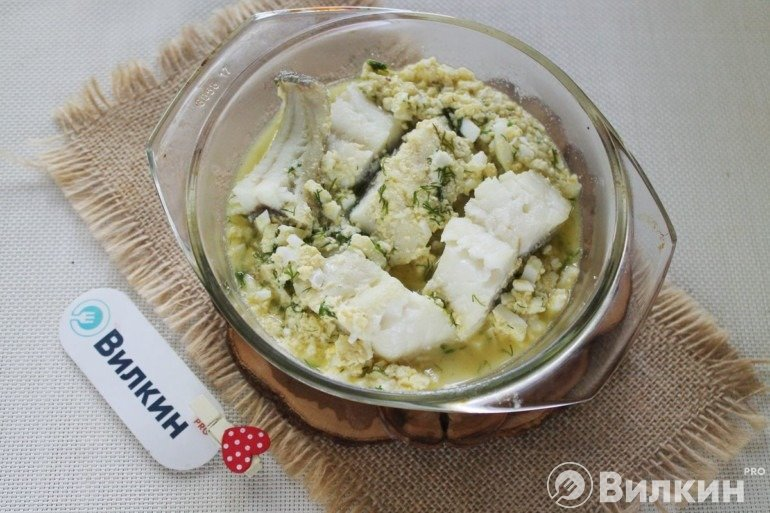 Закладка трески в соус