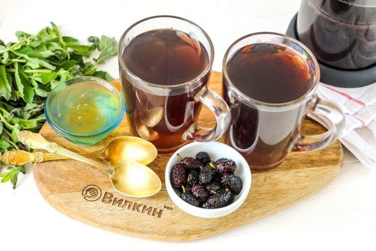 Ароматный чай из ягод шелковицы
